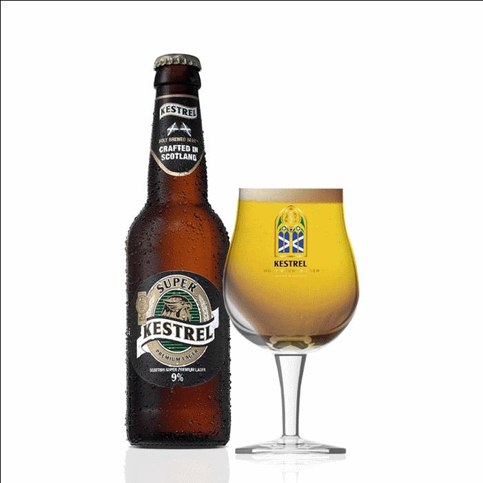 Kestrel Super Lager Premium 9 ABV Larger Beer 330ml Bottle